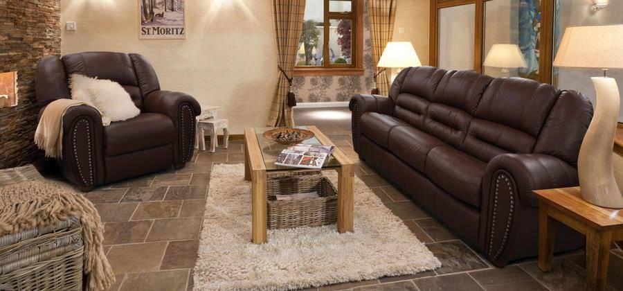 Кожаные диваны в интерьере: 160+ (фото) черных/белых/коричневых