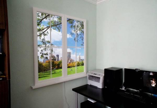Фальш-окно с подсветкой: идея дополнительного света