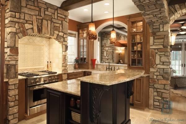 Как сделать кухню без верхних шкафов и не потерять функциональность: 60 фото