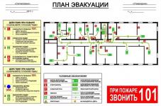 Образец плана эвакуации при пожаре 2020