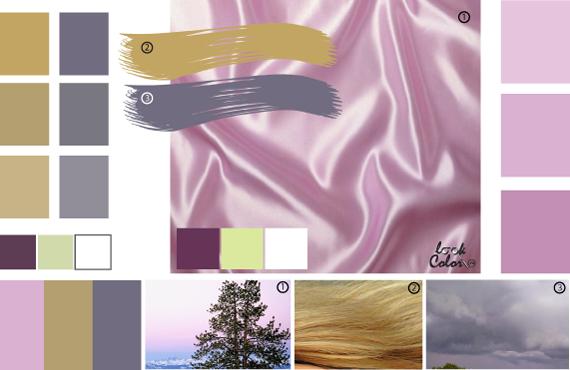 Бело-лиловый цвет: сочетание | lookcolor