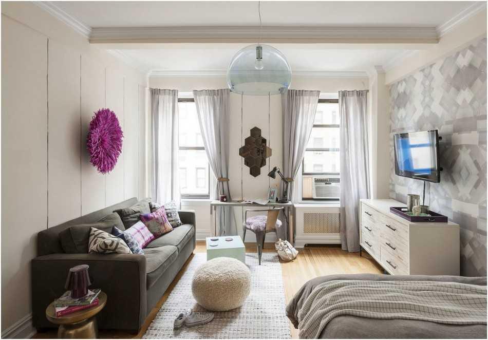 Дизайн однокомнатной квартиры в современном стиле: 13 проектов, 50 фото