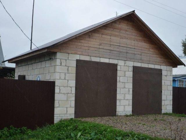 Строительство гаража своими руками из шлакоблока