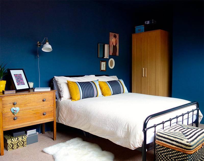 Интерьер и дизайн синей спальной комнаты | 30 современных идей на фото