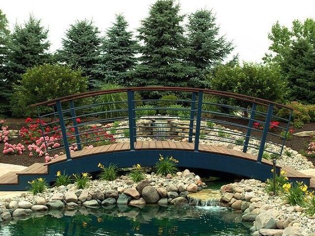 Мостики для дачи - выбор дизайна и советы по обустройству мостика (140 фото + видео)