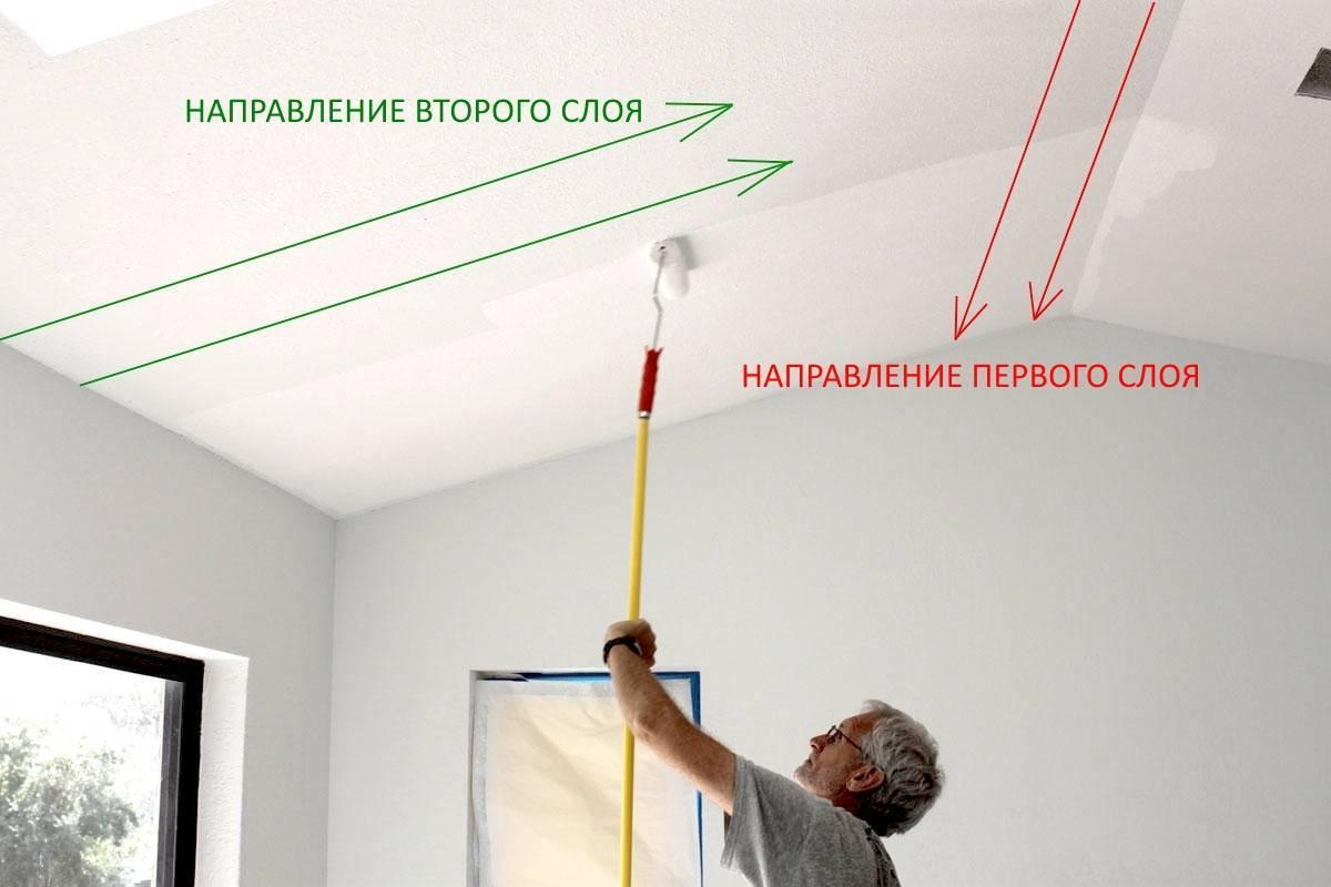 Какой краской лучше красить потолок?
