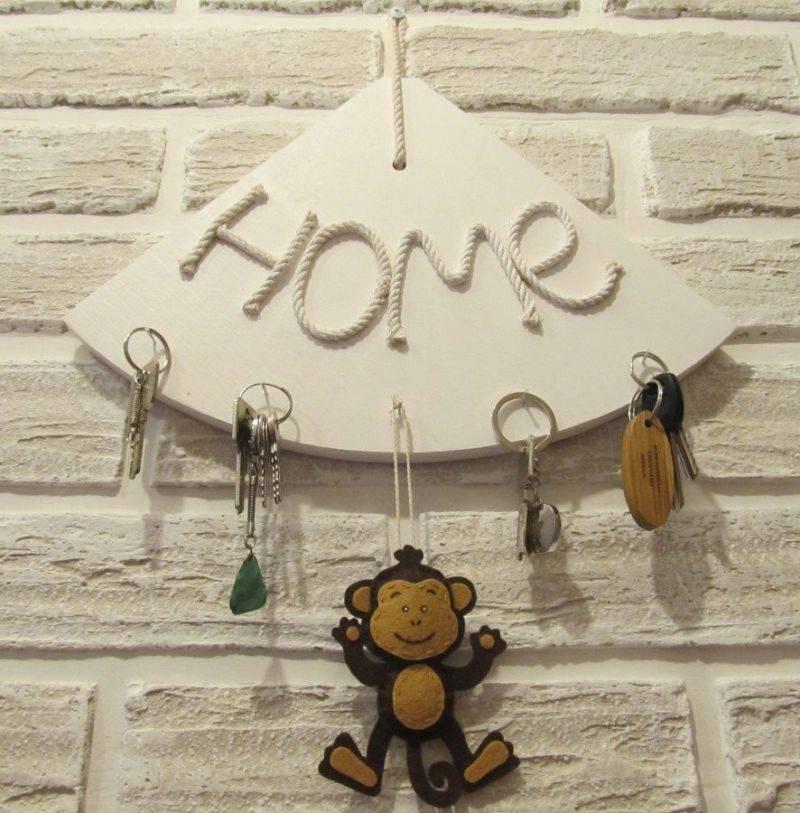 Настенная ключница домик своими руками