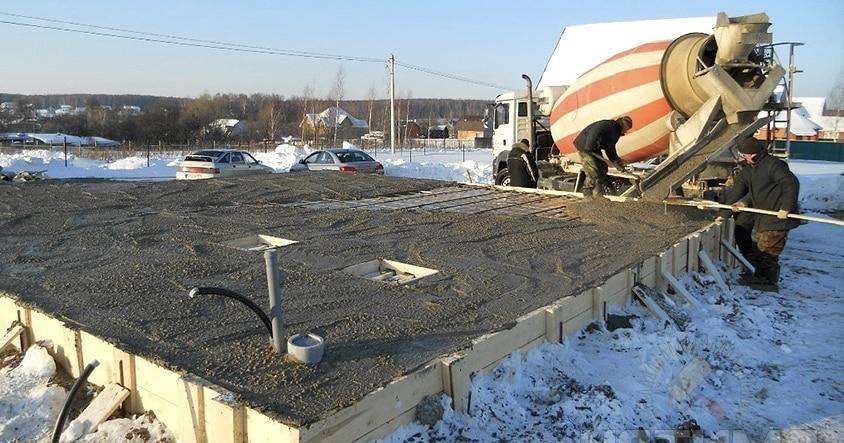 При какой минимальной температуре можно заливать фундамент из бетона