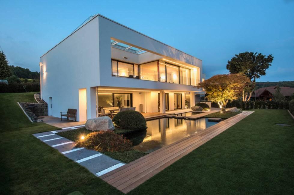 Дома с плоской крышей: особенности применения, современные конструкции и фото лучших проектов