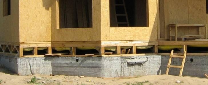 Все о фундаменте под каркасный дом