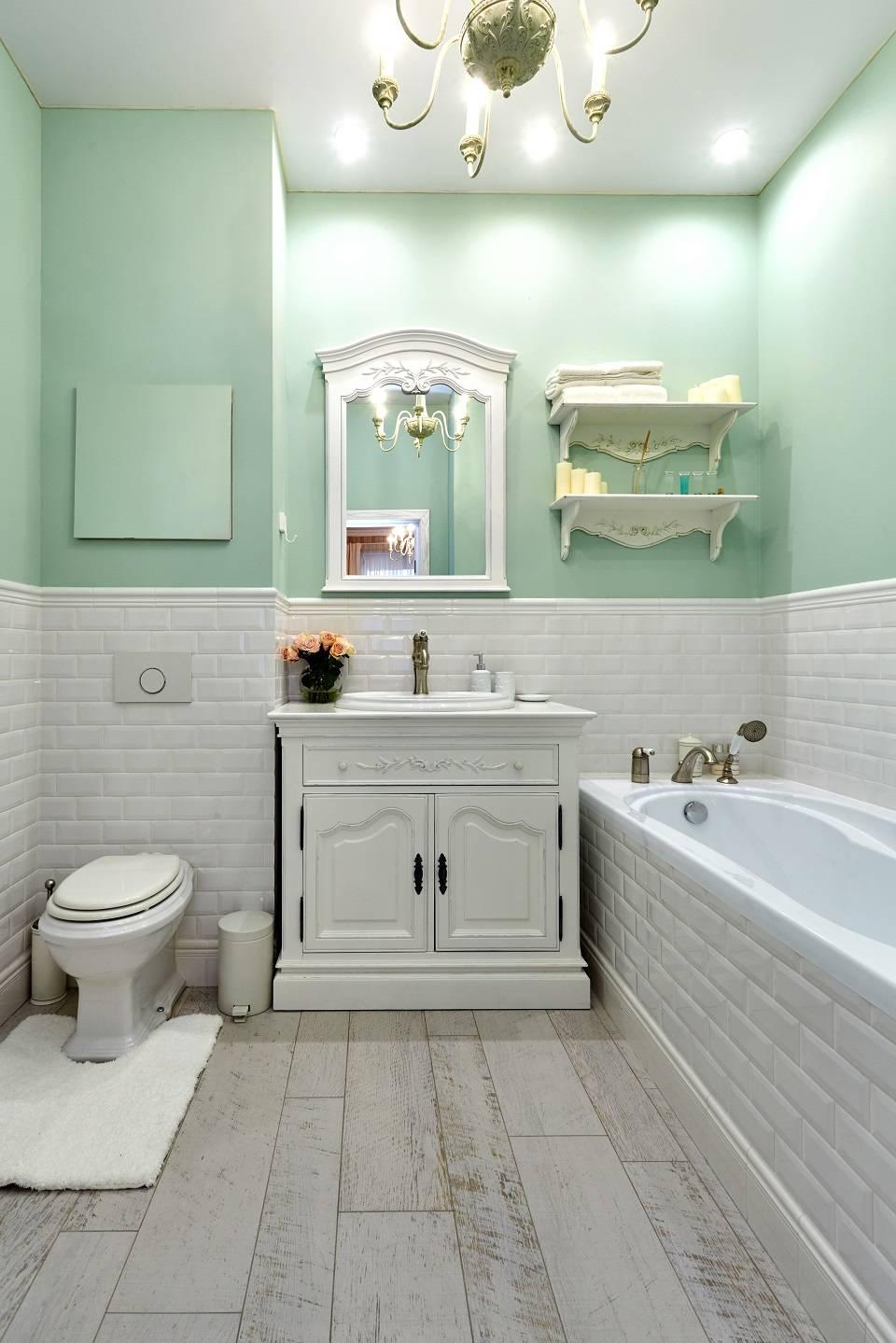 Ванная комната в стиле прованс - фото интерьера ванной комнаты