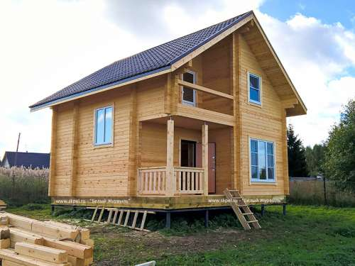 Проекты домов с мансардой 6x8