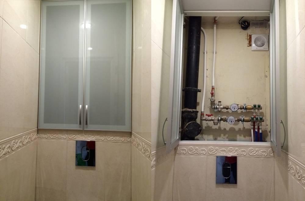 Шкаф в туалете за унитазом из гиспокартона своими руками