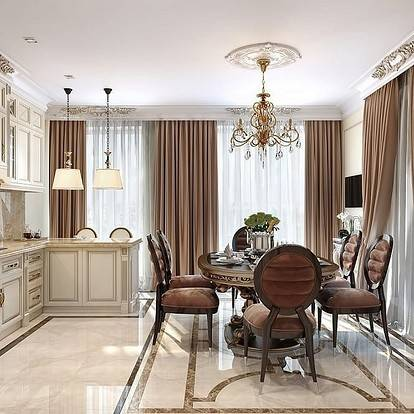 Неоклассика в интерьере: 340+ (фото) кухни/ гостиной/ спальни