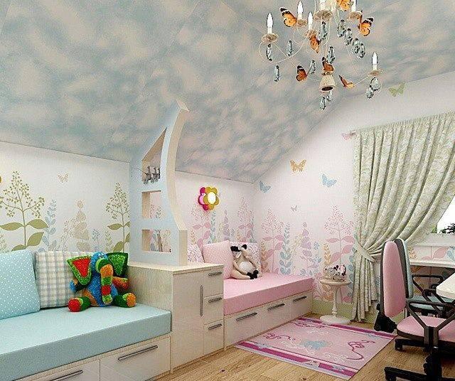 Особенности оформления детской комнаты для двух разнополых детей