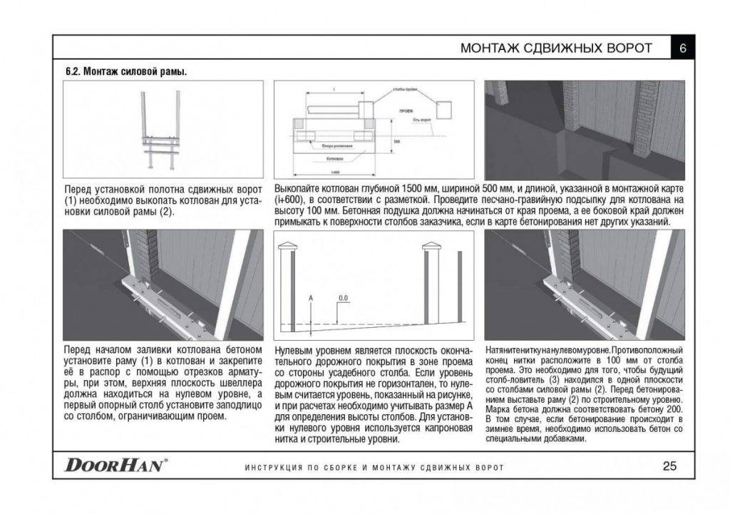 Монтаж секционных ворот дорхан: инструкция по установке своими руками с фото