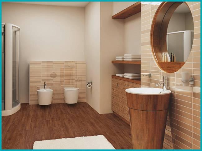 Линолеум в ванной: все за и против   ремонт и дизайн ванной комнаты