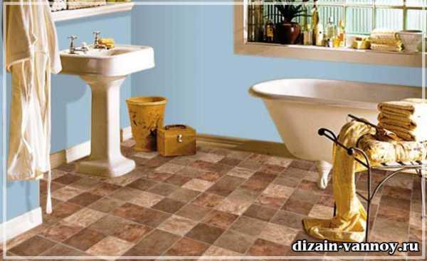 Линолеумный пол в ванной комнате: рациональное решение или авантюра