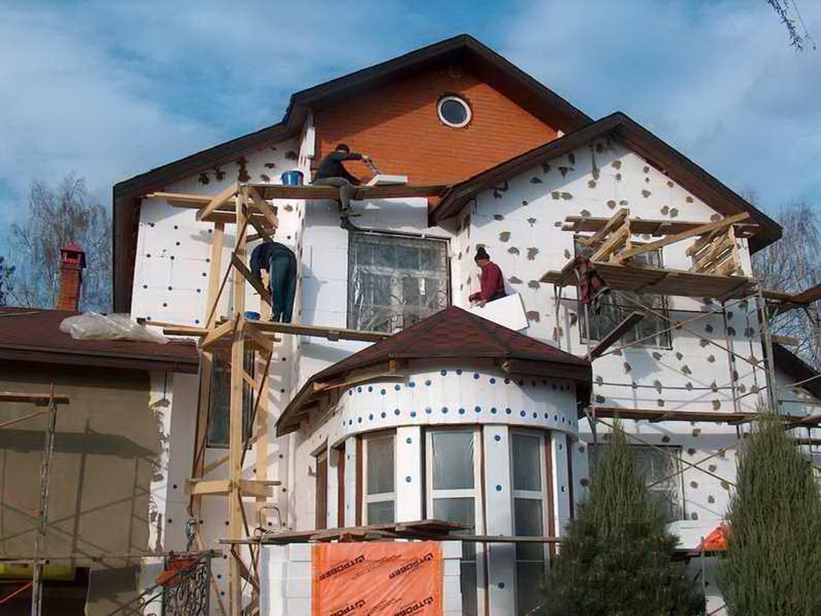 Классификация панелей для утепления фасада дома, технология их установки