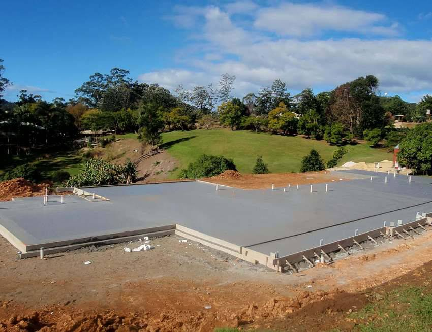 Строим фундамент для дома из арболита