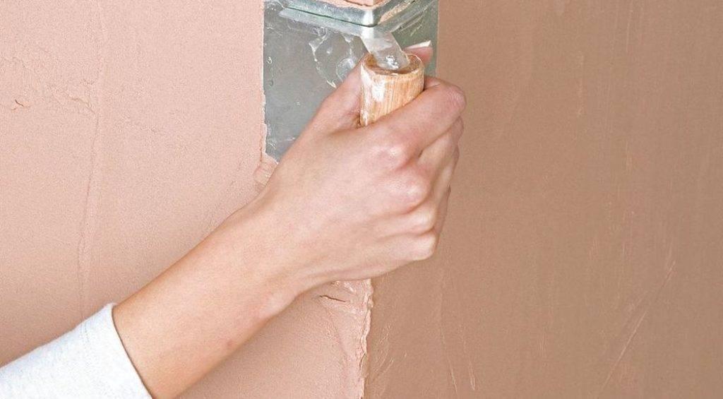 Как выровнять угол стены своими руками различными способами