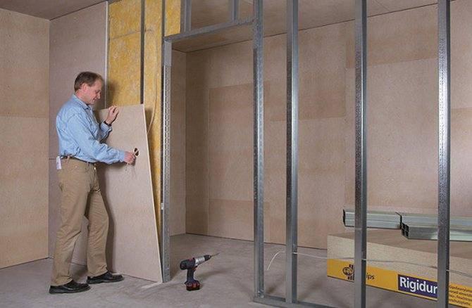 Крепление натяжного потолка к потолку: система установки