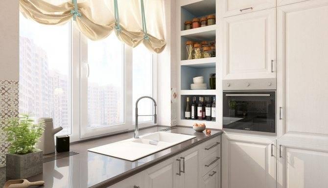 Мойка у окна на кухне - реальные интерьеры (10 фото)