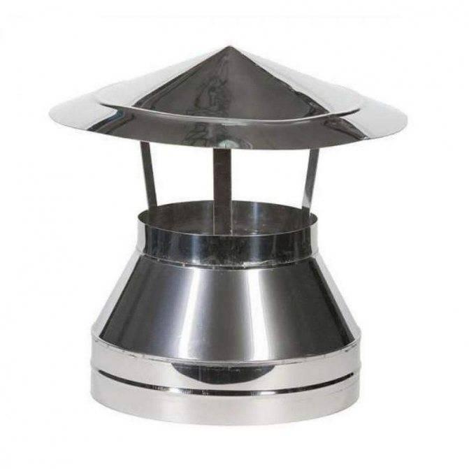 Колпак на трубу дымохода: металлический защитный грибок на круглую трубу своими руками, как сделать