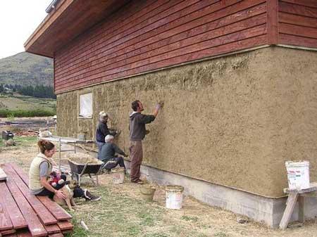 Как сделать утепление дома соломой с глиной снаружи своими руками каркасного дома с сеном