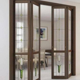 Складные двери, раскладывающаяся конструкции на кухню и межкомнатные