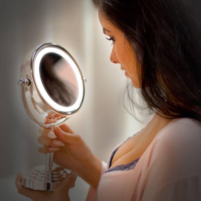 Как выбрать косметическое зеркало с подсветкой? топ-7 косметических зеркал 2021 | «медспрос»