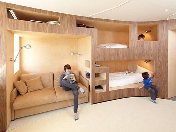 Двухъярусная кровать - 100 фото лучших идей дизайна
