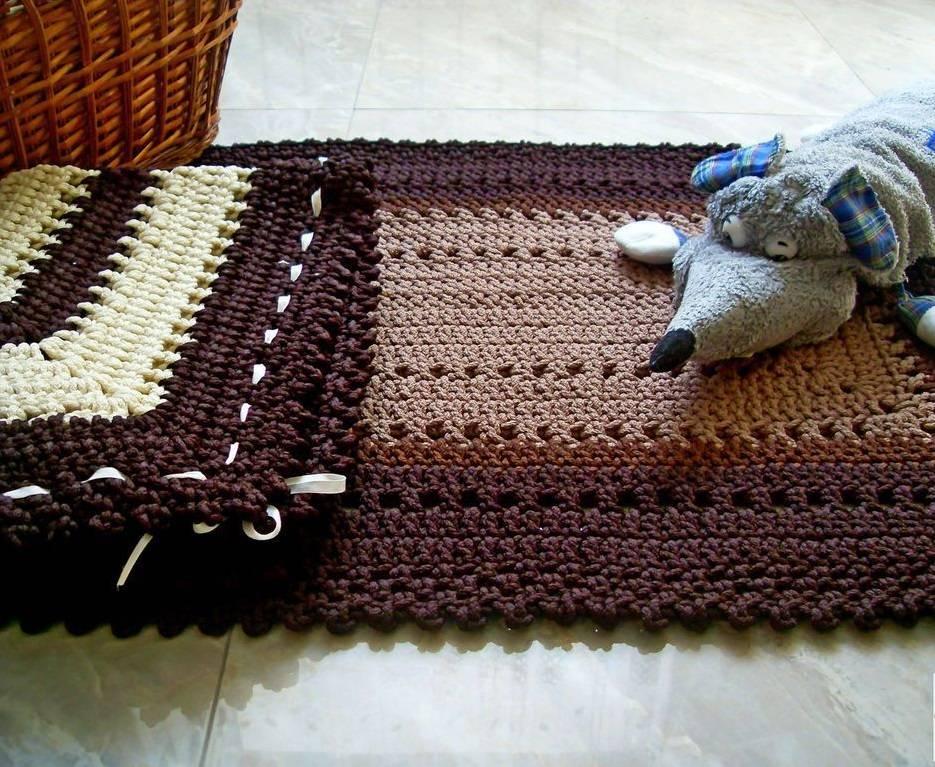 Поиск на постиле: вязаные коврики из шнура