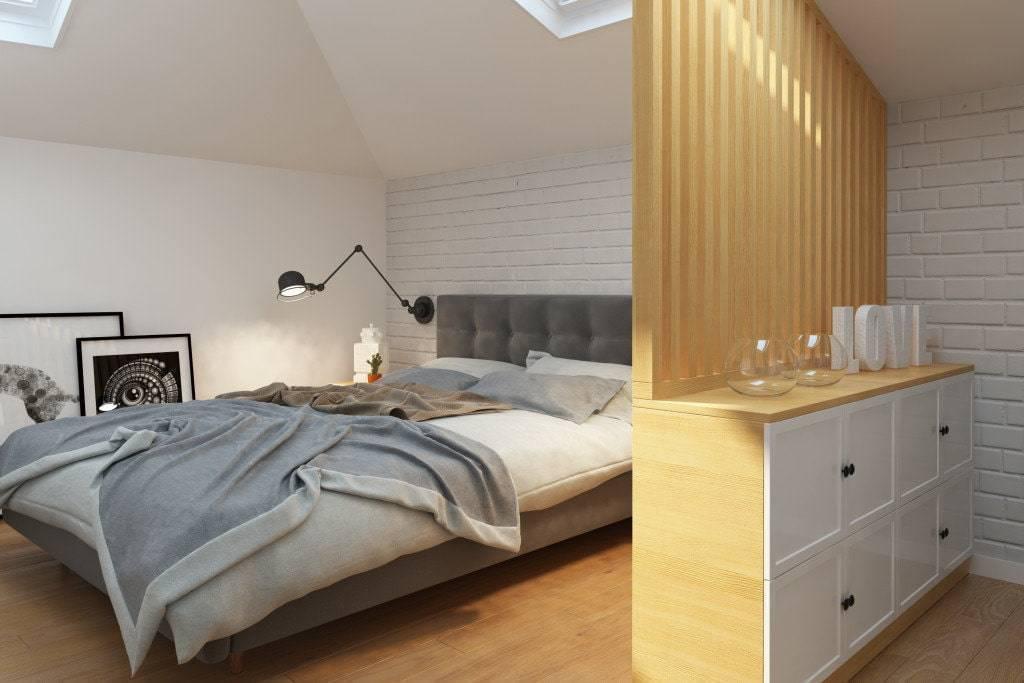 Дизайн современной спальни на мансарде (+40 фото)