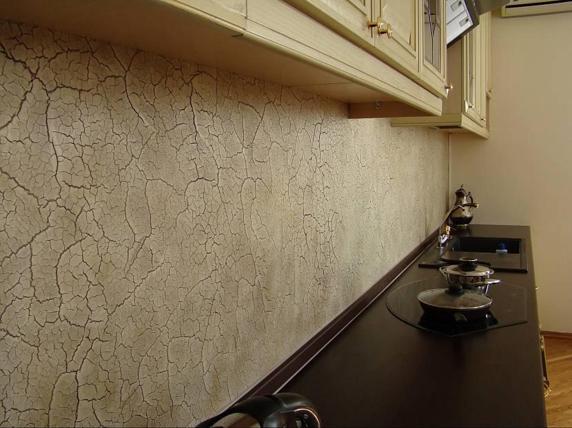 Декоративная (фактурная) штукатурка в интерьере кухни, виды, нанесение своими руками, фото » интер-ер.ру