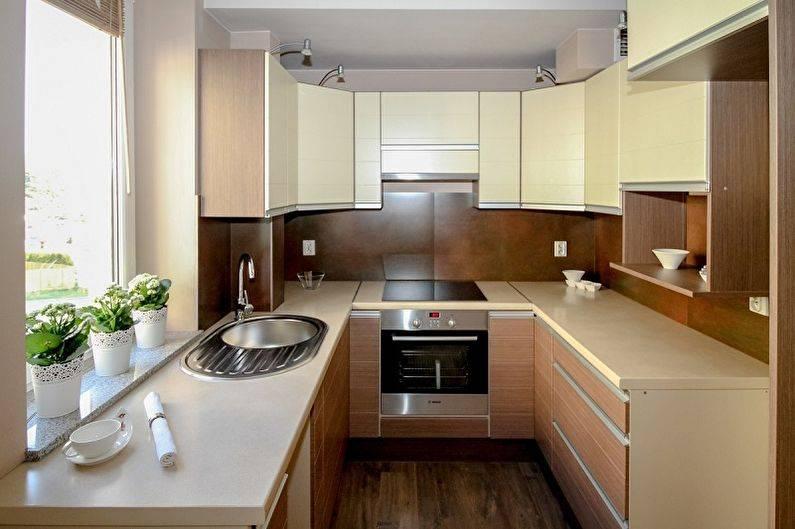 Дизайн прямой кухни (реальные фото)