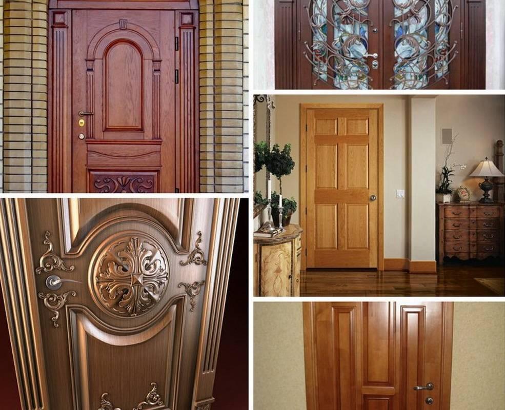 Входная дверь в деревянный дом