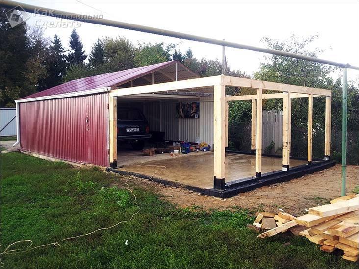 Строительство гаража своими руками из дерева по чертежу