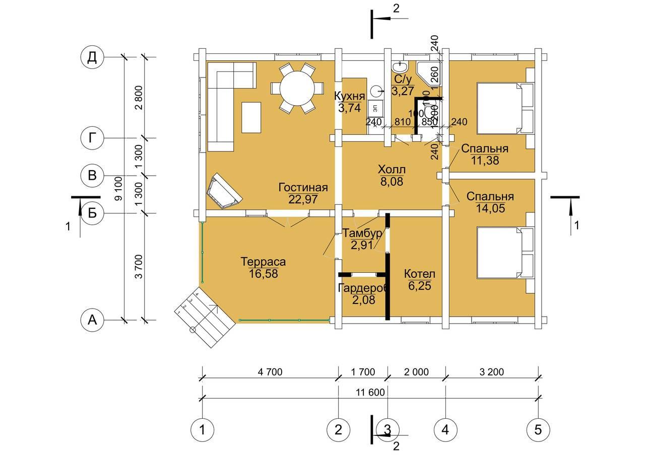 Проект дома 10 на 12: одноэтажный, двухэтажный, с мансардой, с тремя спальнями и размерами, из пеноблоков, бруса