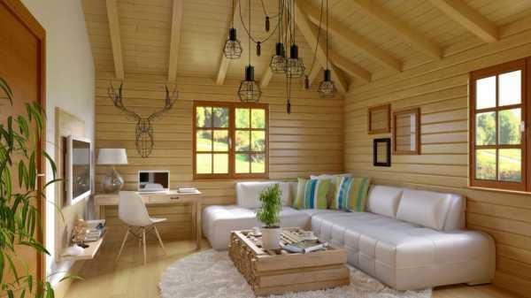 Красим деревянный дом внутри профессионально. отделка внутри дома