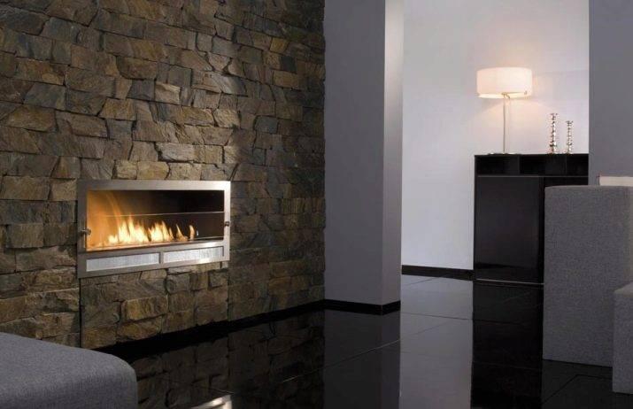 Декоративный камень на кухне: 130+ (фото) оформленных вариантов