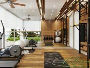 Домашний спортзал: дизайн интерьера, напольное покрытие и идеи обустройства