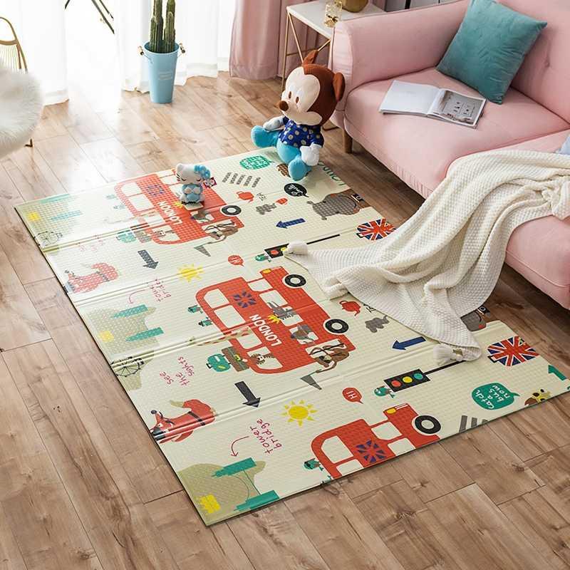 Мягкий и теплый модульный пол для детской комнаты