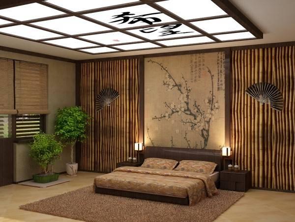 Бамбуковые обои – фото в интерьере, состав, уход, как клеить