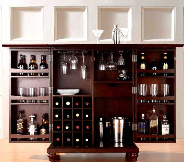 Домашний мини-бар — фото крутых и вместительных стоек