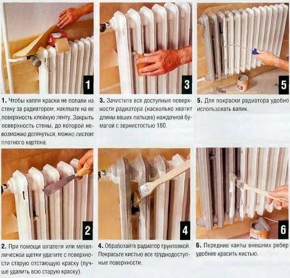 Как красиво покрасить батареи отопления своими руками - выбор краски и советы по окрашиванию с инструкцией и фото