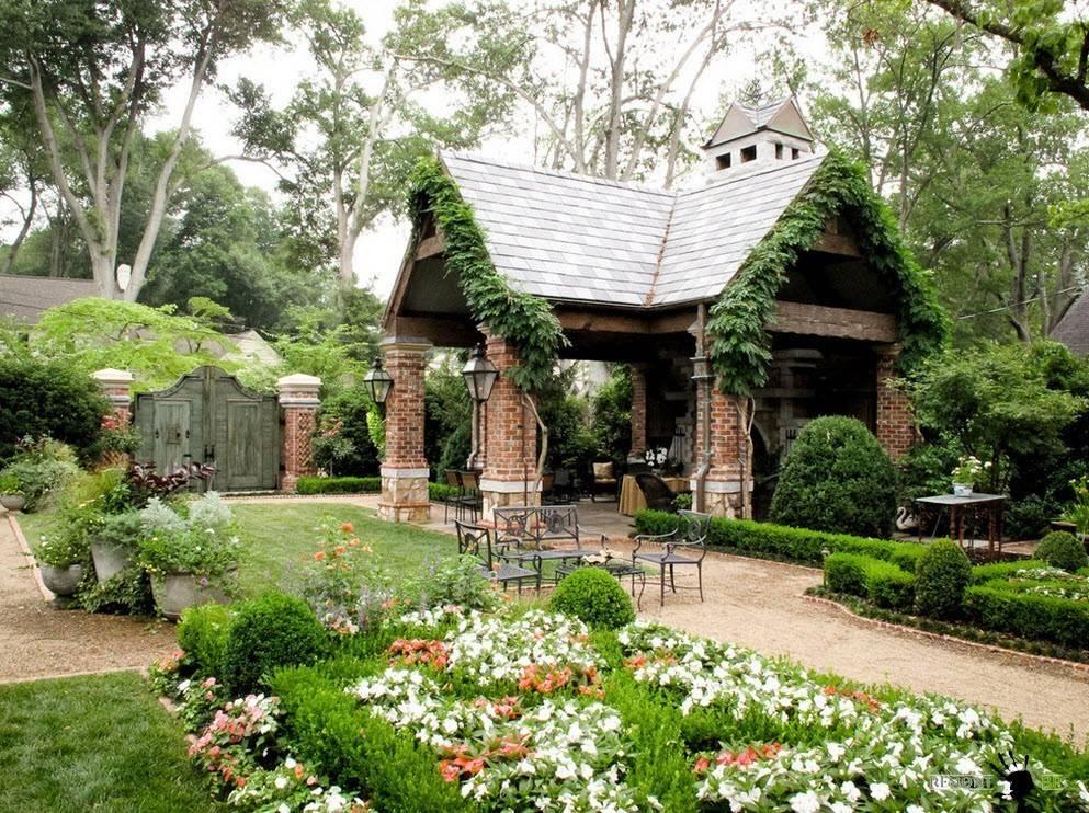 Ландшафтный дизайн перед домом: идеи и советы по оформлению