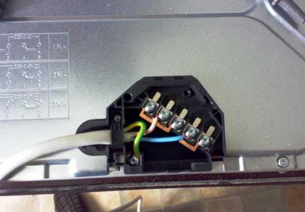 Подключение варочной панели к электросети: 4 и 5 проводов, с розеткой и без нее