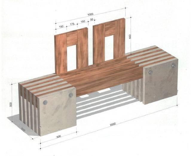 Скамейки из дерева своими руками с размерами: фото скамейки из дерева своими руками с размерами: фото