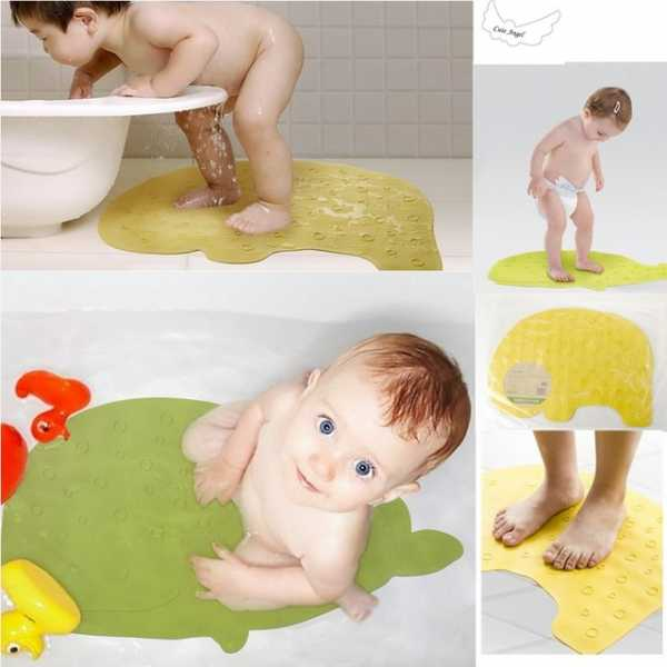 Детский коврик для ванной (55 фото): противоскользящий на присосках и нескользящая мини-модель